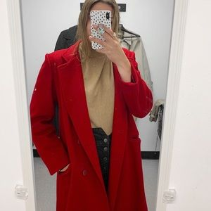Red long coat (oversized)